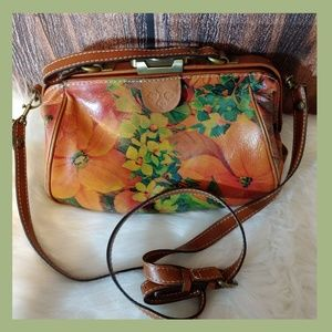 Patricia Nash push and lock floral purse